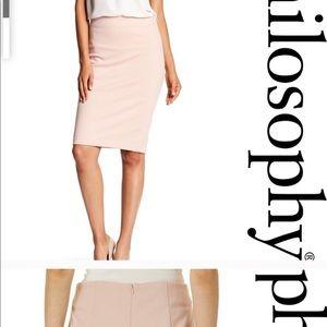Philosophy size 8 blush rose pencil skirt